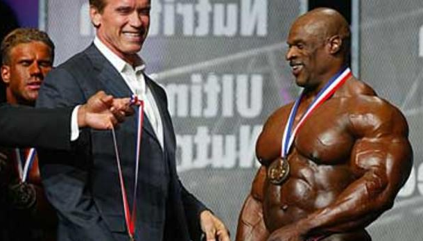 Ronnie Coleman and Arnold Schwarzenegger